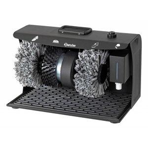 Bartscher Schoenpoetsmachine SUPERDELUXE | 3 Borstels | met Draaggreep | 400x240x260(h)mm