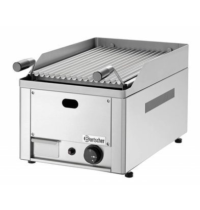 Bartscher Lava Stone Grill Gas Stainless Steel - Tabletop - with the grill pan -33x54x (h) 28,5cm - 4Q