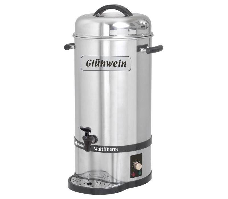Bartscher Mulled wine dispenser / Mulled wine boiler | plus Faucet | Ø270mm | 20 liter
