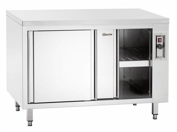 Bartscher Warmkast met Schuifdeuren en Tussenschap - in Hoogte Verstelbaar -160x70x(h)40cm
