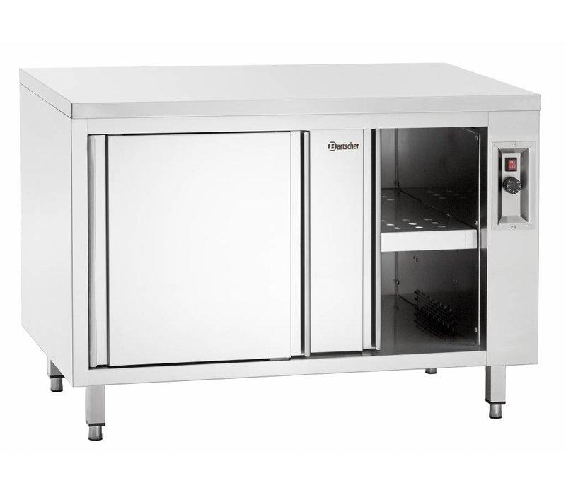 Bartscher Warmkast met schuifdeuren en tussenschap -2kW - 120x70x(h)85/90cm