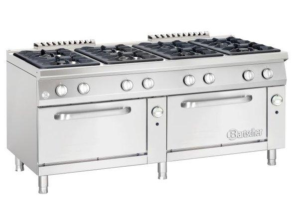 Bartscher Pits Ofen 8 + 2 Gas-Öfen GN 2/1 Serie 900 | 1800x900x (H) 850-900mm