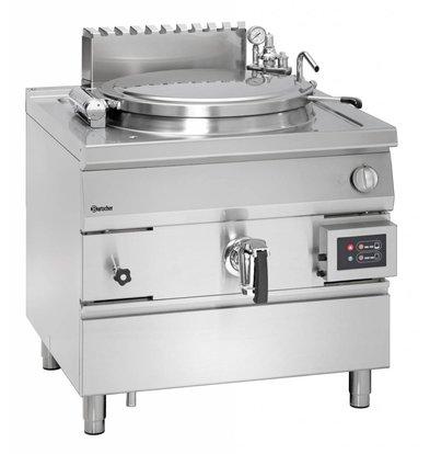 Bartscher Gas Indirekte Kochkessel Heizung - 150L - 900x900x (h) 850-900mm - 21KW