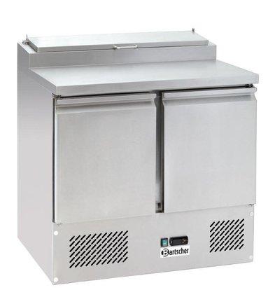 Bartscher RVS Koelwerkbank - 2 deurs | 0° / +10 °C | met opzet 5x1/6 GN - 90x69x(h)100cm