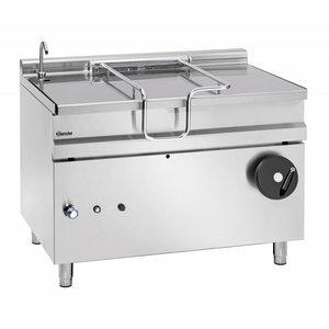 Bartscher Gas Tilting Fryer | With Manual Tilt Wheel | 30 kw | 1200x900x (H) 900mm