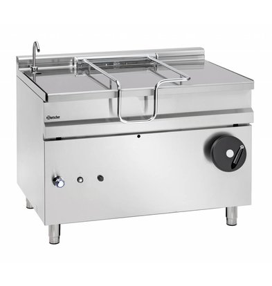 Bartscher Gas Tilting Fryer | With Manual Tilt Wheel | 30 kw | 1200x900x (H) 900mm