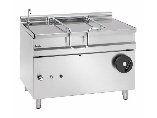 Bartscher Gas Kantelbare Braadpan | Met Hand Bediend Kantelwiel | 30 kw | 1200x900x(H)900mm