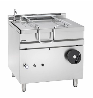 Bartscher Gas Tilting Fryer | With Manual Tilt Wheel | 22 kw | 900x900x (H) 900 mm