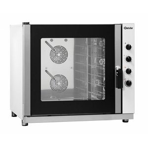 Bartscher Convection Oven with Steam Combined - 920x1050x840 (h) mm - for 6x 600x400 mm