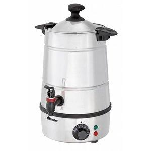 Bartscher Heetwater dispenser / Gluwein ketel | Tapkraan | Ø210 mm | 5 liter