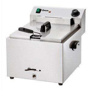 Bartscher Electric Fryer | 10 Liter | With drain valve | 8.1 kW | 410x500x (H) 380mm