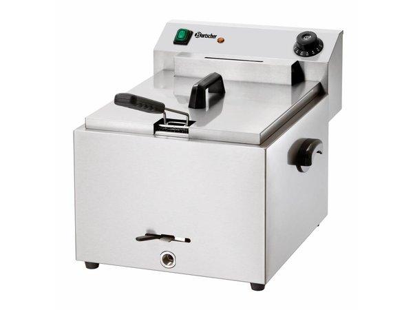 Bartscher Fritteuse | 10 Liter | Mit Ablassventil | 8,1 kW | 410x500x (H) 380mm