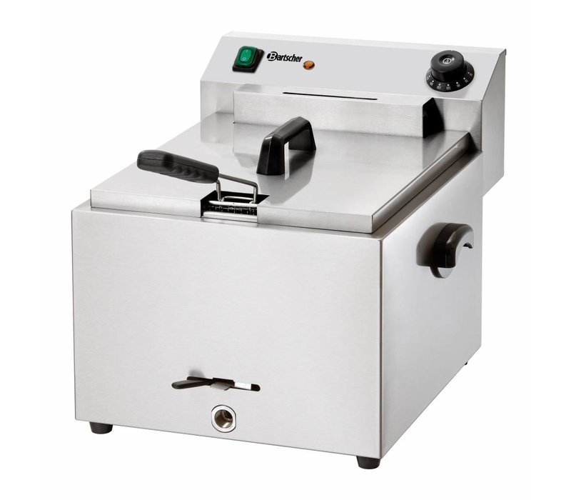Bartscher Electric Fryer   10 Liter   With drain valve   8.1 kW   410x500x (H) 380mm