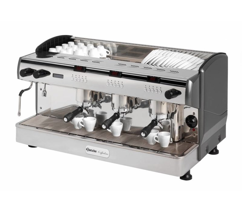 Bartscher Bartscher Coffee Line G3 plus | Ausgestattet mit 4 Heizkessel | 400V | 6,3kW | 967x580x (H) 523mm