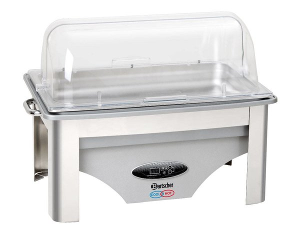 Bartscher Chafing Dish | For Hot and Cold | 1/1 GN | Adjustable -5 ° C to + 75 ° C | 610x360x (H) 450mm