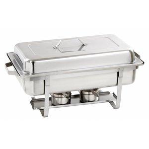 Bartscher Chafing Dish | Chroomnikkelstaal | Extra Diep | 1/1GN | 100mm diep | 605x350x(H)305mm