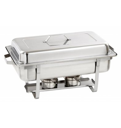 Bartscher Chafing Dish | Chrome nickel steel | Extra Deep | 1 / 1GN | 100mm deep | 605x350x (H) 305mm