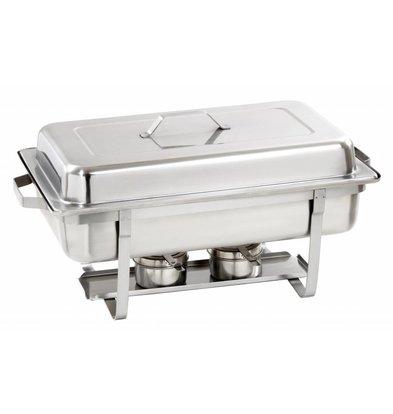 Bartscher Chafing Dish   Chroomnikkelstaal   Extra Diep   1/1GN   100mm diep   605x350x(H)305mm