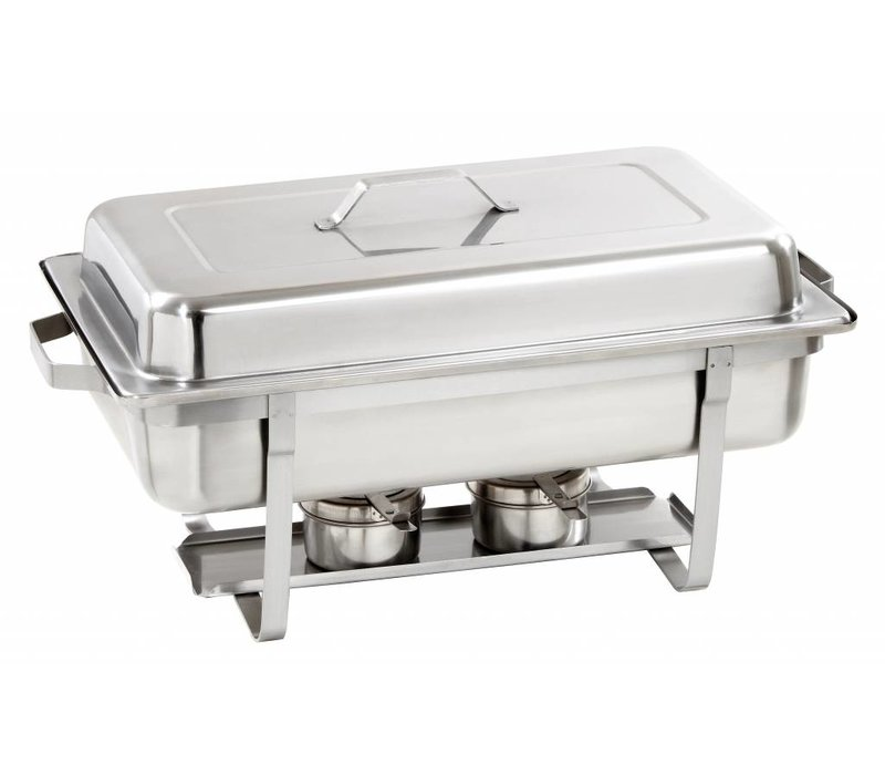 Bartscher Chafing Dish | Chrome nickel steel | Extra Deep | 1 / 1GN | 100mm deep | 605x350x (H) 305mm