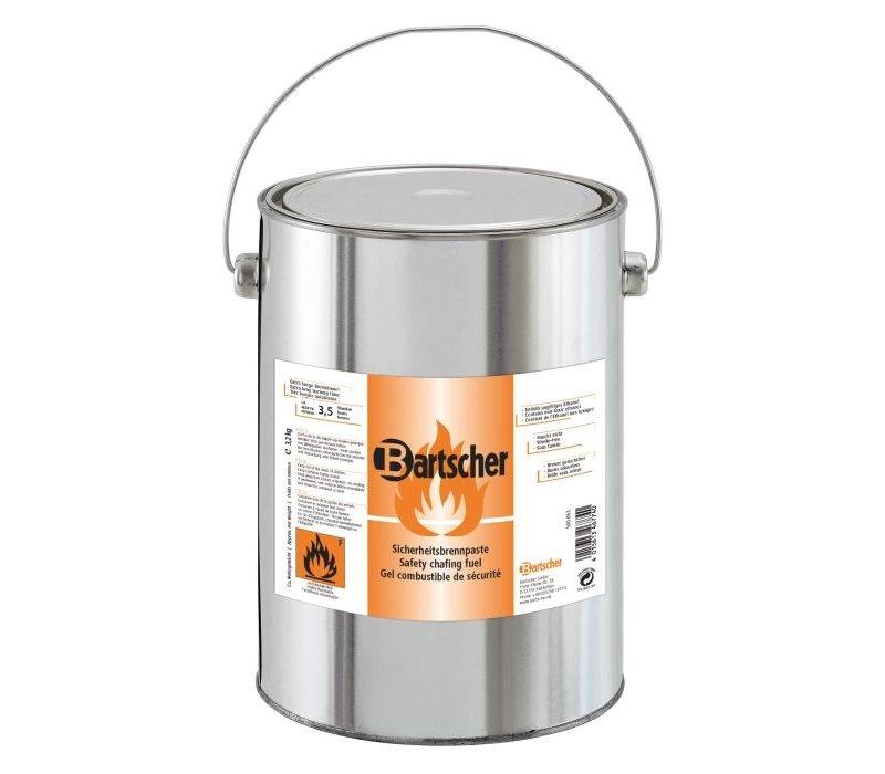 Bartscher 4 Blikken voor het navullen van brandpasta - 4 x 3,2 kg