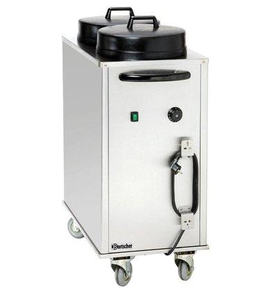 Bartscher Bordenwarmer Bordenwagen Elektrisch Verwarmd - 2 kW - 43x80x(h)103cm