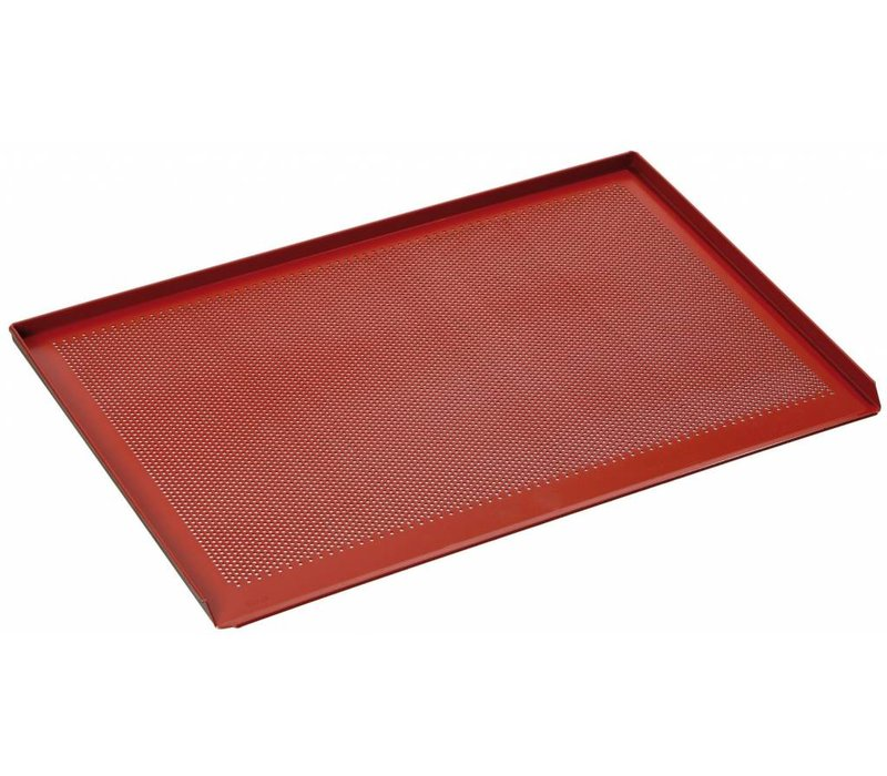 Bartscher Perforated Baking tray | Bakery standard | With Silicon Coating | 600x400mm