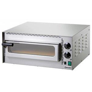 Bartscher Pizza Oven Enkel Elektrisch | 1 Pizza 35cm | Mini Plus | 570x470x(H)250mm