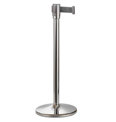 Saro Barrier post Chrome 9 kg - with black drawstring 180cm tall