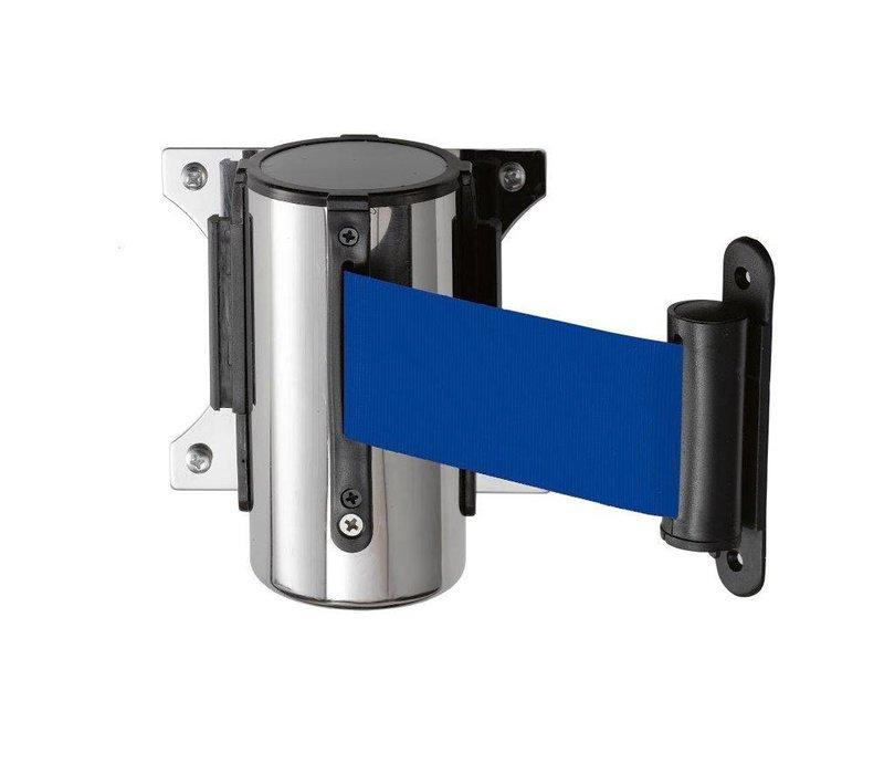Saro Muursysteem voor afzetpaal RVS blauw Basic 3M