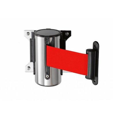 Saro Muursysteem voor afzetpaal RVS rood Basic