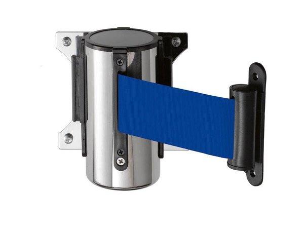 Saro Muursysteem voor afzetpaal RVS blauw Basic