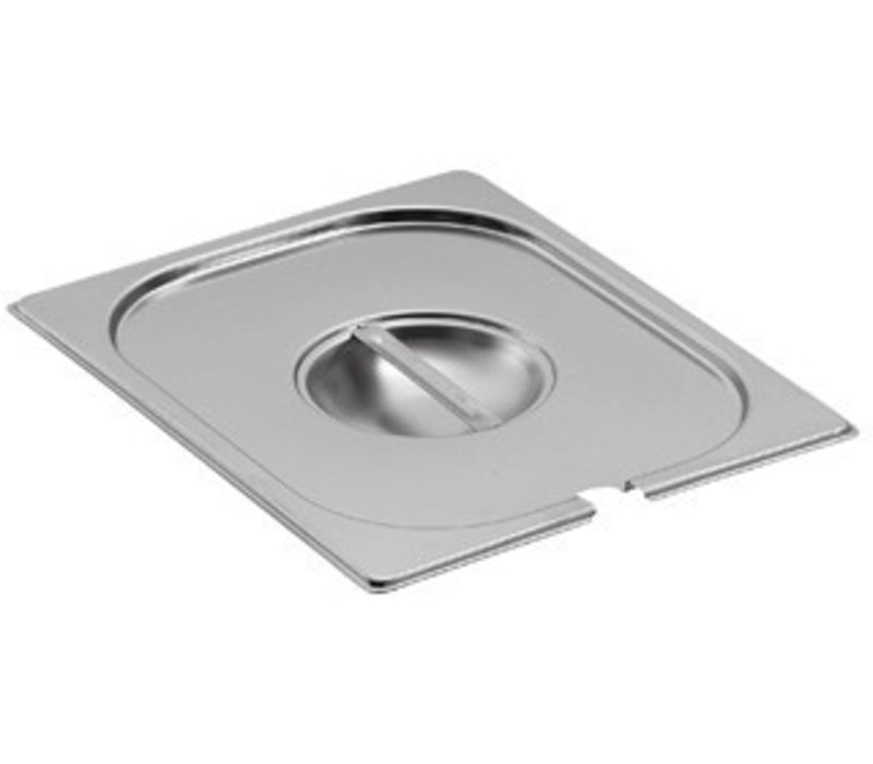 Saro Gastronorm lid with hole for ladle GN 1/2