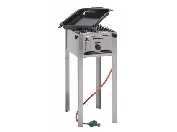 Hendi Gas-Grill Hendi 154 700 Grillmaster Mini | Propan BBQ | Komplett mit Zubehör
