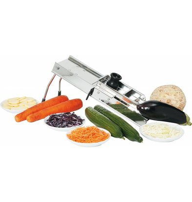 Hendi Vegetable Cutter stainless Mandolin - Inc 3 meskammen