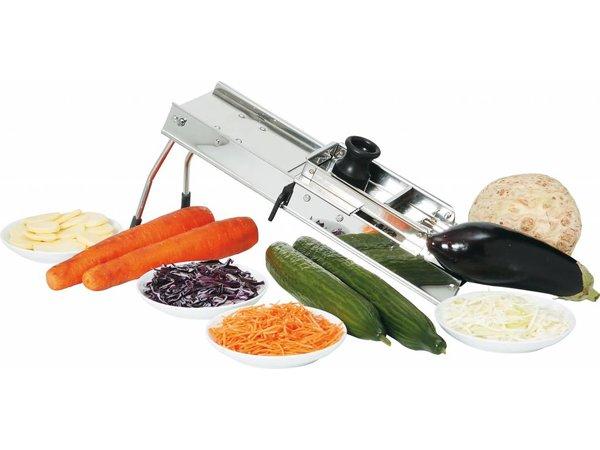 Hendi Vegetable Cutter stainless Mandolin - Inc 3 meskammen