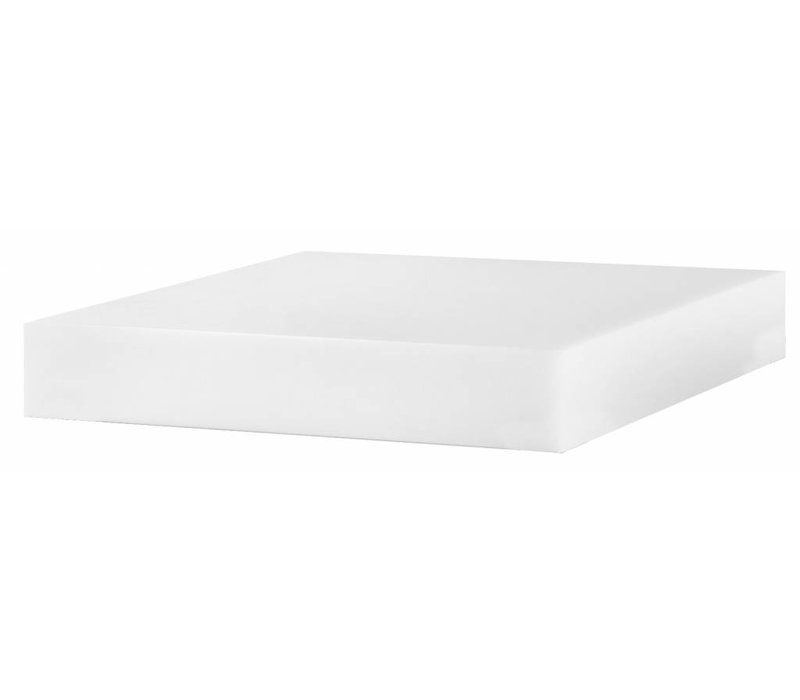 Hendi Chopping block of Plastic / Polyethylene - 400x500x80 (h) mm | 15.50 kg