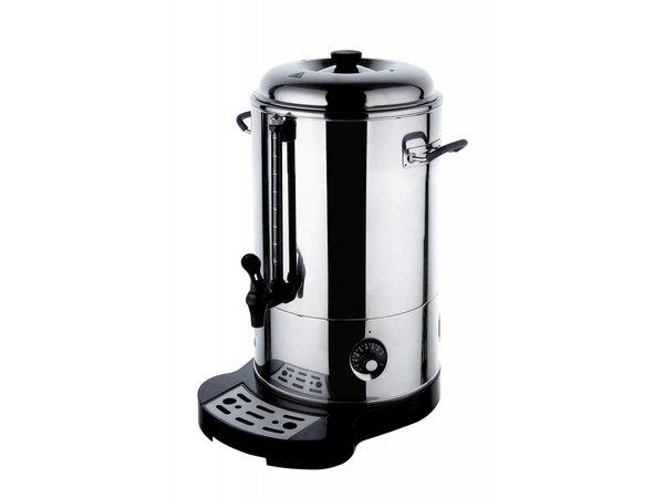 Hendi Doppelwandige Edelstahl Warmwasser-Zufuhr / Glühwein Boiler   Ø288mm   18 Liter