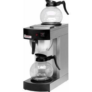 Hendi Kaffee 1,8 Liter | Incl. 2 Glaskannen | 2100W | 200x385x (H) 430mm