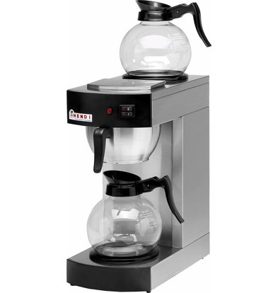 Hendi Coffee Maker 1.8 Liter | Incl. 2 Glass Jugs | 2100W | 200x385x (H) 430mm