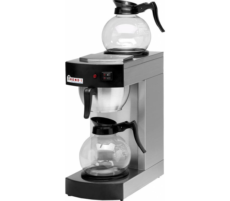 Hendi Coffee 1,8 Liter | Incl. 2 Glass Jugs | 2100W | 200x385x (H) 430mm
