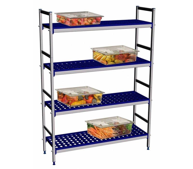 Hendi Storage rack aluminum planks - Polypropylene - 1280x405x1685 mm