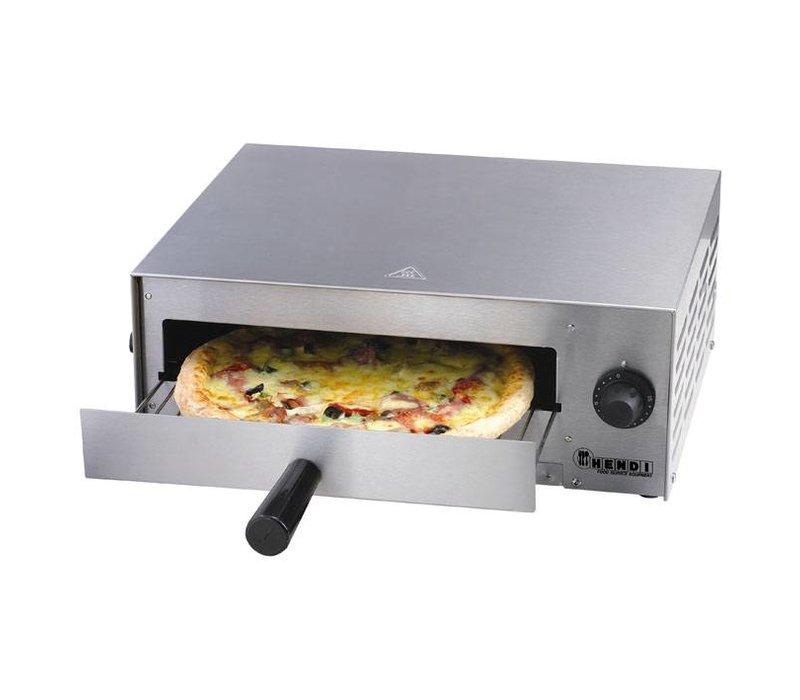 Hendi Pizzaoven Enkel Elektrisch | Pizza 30cm Basic | 1300W | 480x420x(H)195mm