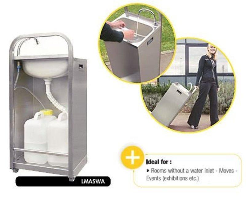 XXLselect Mobiele Wasbak RVS | met Voetbediening | Inclusief 2 Jerrycans 13 liter