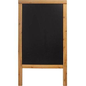 Securit Stoepbord 100% Hardhout Teak - Duplo 70x120 - DELUXE