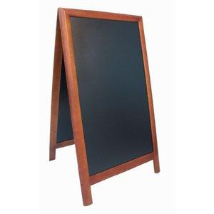 Securit Stoepbord 100% Hardwood Dark Brown - Duplo 70x120 - DELUXE