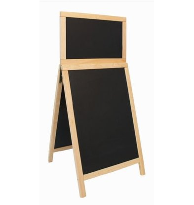 Securit Stoepbord Holz Natur - Duplo Top 55x120 - DELUXE