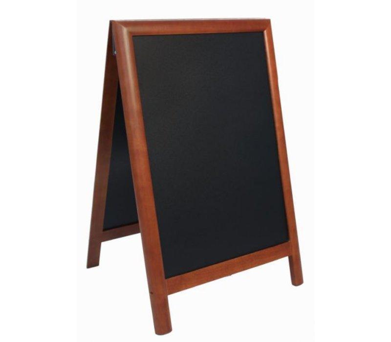 Securit Sidewalk board 100% Hardwood Dark Brown - Duplo 55x85 - DELUXE