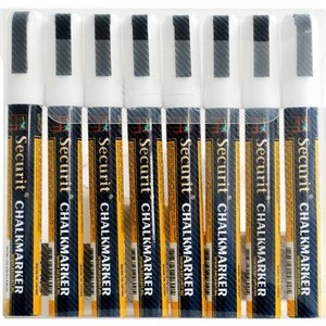 Securit Securit Narrow Chalk Markers - 8 pieces - white - 2/6 mm