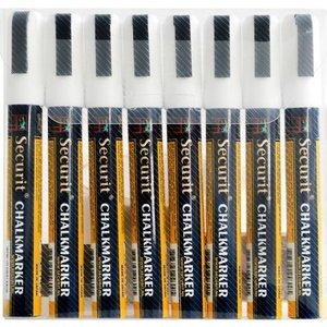 Securit Securit Schmale Kreidemarkern - 8 Stück - weiss - 6.2 mm
