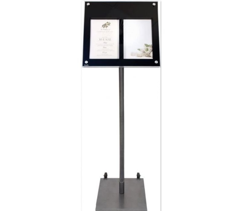 Securit Standard curved cabinet Menu | 135 cm